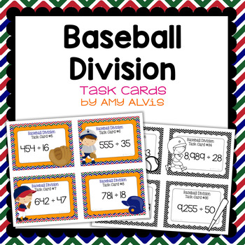 Division Task Cards - Baseball