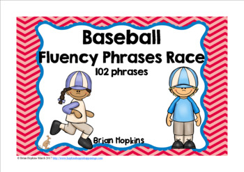 Baseball Sight Word Fluency Phrases Race
