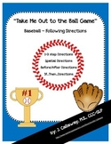 """Baseball ~ Following Directions """"Take Me Out to the Ball Game!"""""""