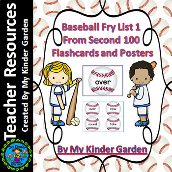 Baseball Fry List 1 From 2nd 100  Sight Word Flashcards an