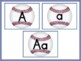 Baseball Full Page Alphabet Letter Posters Uppercase and L