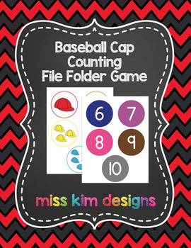 Baseball Hat Sports Counting File Folder Game for Special