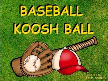 Baseball Koosh Ball Game (SMARTBoard)