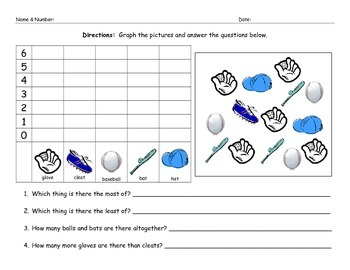Baseball Math Graphing Morning Work Worksheet Homework