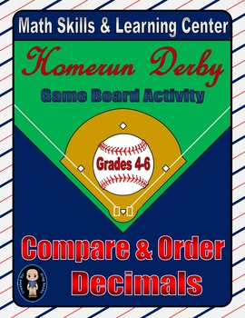 Baseball Math Skills & Learning Center (Compare & Order Decimals)