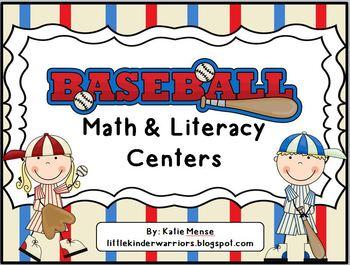 Baseball Math and Literacy Centers