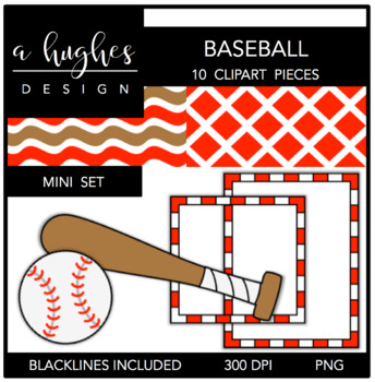 Baseball Mini Set {Graphics for Commercial Use}