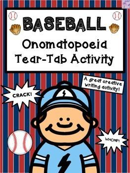 Baseball Onomatopoeia Tear-Tab Creative Writing Activity