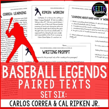 Baseball Paired Texts: Carlos Correa and Cal Ripken Jr.: N