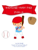 Baseball PreK-K Math Pack