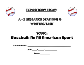 Baseball Research Stations & Expository Essay