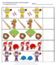 Baseball Sequence, Addition, Subtraction Cut and Paste Activities