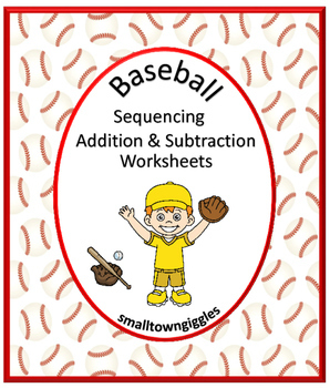 No Prep Baseball Sequence, Addition, Subtraction Cut and P