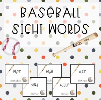 Baseball Sight Words