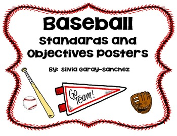 Baseball Standards and Objectives Posters