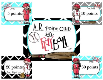 Baseball Theme-Accelerated Reading Chart (AR)