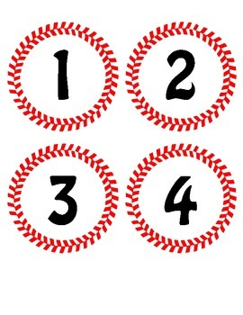 Baseball Theme Lunch Count Cards-- Sports Classroom