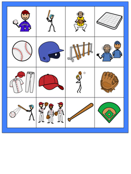 Baseball Themed Bingo