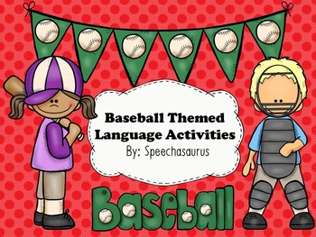 Baseball Themed Language Activities