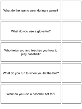 Baseball Themed 'WH' Questions