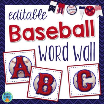 Baseball Word Wall Sports Theme