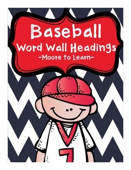 Baseball Word Wall Headings