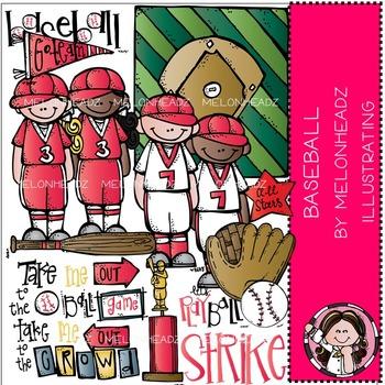 Melonheadz: Baseball clip art - COMBO PACK