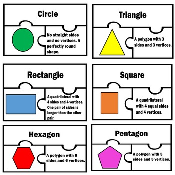 Basic 2D Shapes Two Dimensional Math Puzzles Centers work