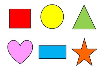Basic 6 shape matching activity