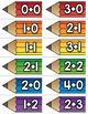 Addition Fact Matching Pencils