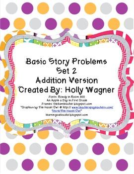 Basic Addition Story Problems Set 2