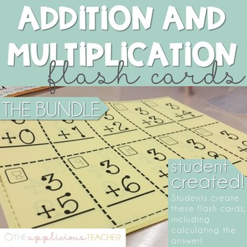 Basic Addition and Multiplication Flash Cards (0-9)