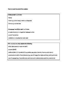 Basic Analytical Framework