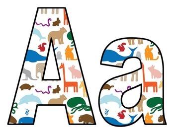 Basic Animal Print Lettering