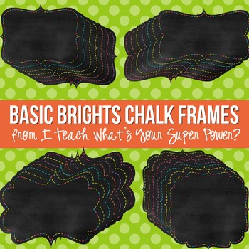 Basic Brights Chalk Digital Frames