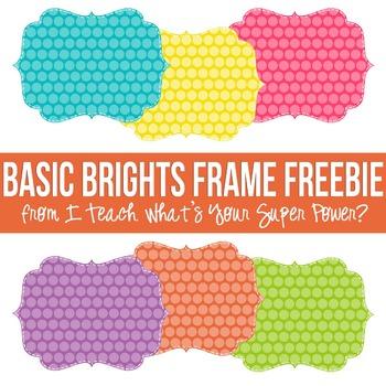 Basic Brights Digital Frames FREEBIE