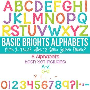 Basic Brights Set of 6 Alphas
