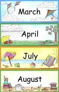 Basic Calendar Math Bulletin Board Set