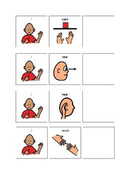Basic Communication Sentence Strips