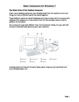 Basic Computer Usage Packet