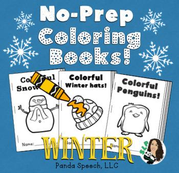 WINTER Basic Concepts Coloring Books: NO PREP!