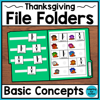 Thanksgiving File Folder Activities: Basic Concepts