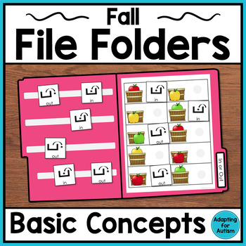 Apples and Fall File Folder Activities: Speech Therapy Bas