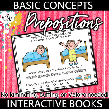 Prepositions (Spatial Concepts) Interactive Book - Basic Concepts