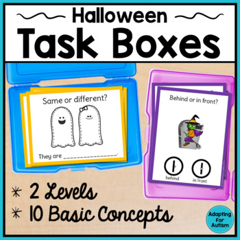 Basic Concepts Task Cards: Halloween (Autism and Special E