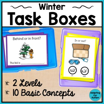 Winter Task Cards: Speech Therapy Basic Concepts