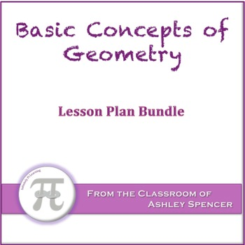 Basic Concepts of Geometry Lesson Plan Bundle
