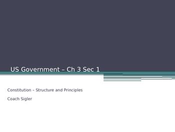Basic Constitutional Principles U.S. American Government -