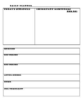 Basic Day Planner Printable