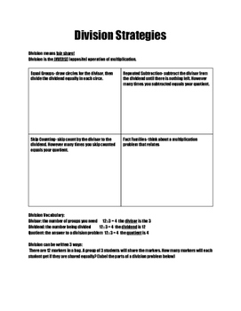 Basic Division Strategies Notes